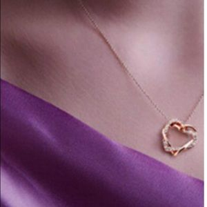 Jewelry - Sapphire Crystal Swarovski Blue Intertwined Hearts